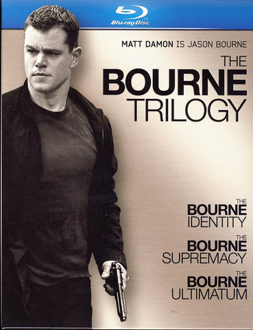 The Bourne Trilogy (Bourne Identity / Bourne Supremacy / Bourne Ultimatum) (Blu-Ray) (Boxset) BLU-RAY Movie