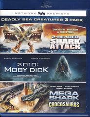 Deadly Sea Creatures 3 pack (2-headed Shark Attack/2010:Moby Dick/MegaShark v Crocosaurus) (Blu-ray)