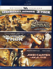 Legendary Heroes 3 Pack (7 adventures of Sinbad/Almighty Thor/John Carter of Mars) (Blu-ray)