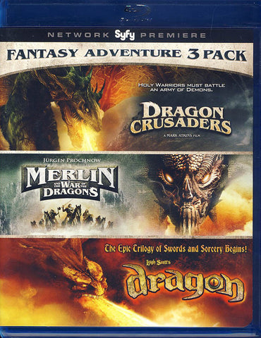 Fantasy Adventure 3 Pack (Dragon Crusaders / Merlin / Dragon) (Blu-ray) BLU-RAY Movie