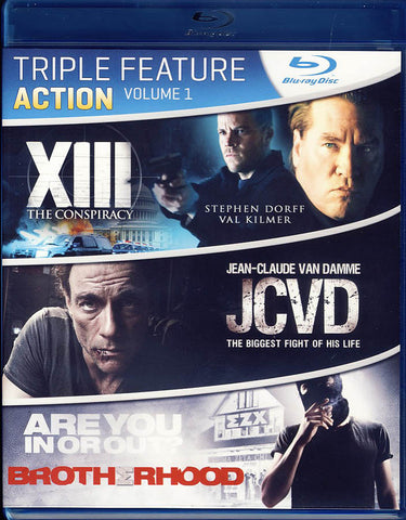 XIII - The Conspiracy / JCVD / Brotherhood (Blu-ray) BLU-RAY Movie