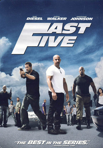 Fast Five (Limited Edition Steelbook)(Blu-ray+DVD Combo)(Bilingual) (Bluray) DVD Movie