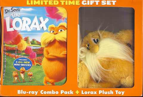 Dr. Seuss The Lorax Blu-ray+DVD+Digital Copy+UV With Plush Toy (Blu-ray) (Boxset) BLU-RAY Movie