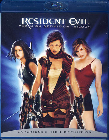 Resident Evil - High Definition Trilogy (Triple Feature) (Blu-ray) BLU-RAY Movie
