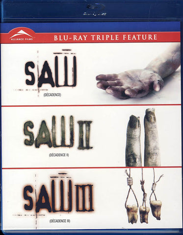 Saw I, II & III Triple Feature (Blu-Ray) DVD Movie