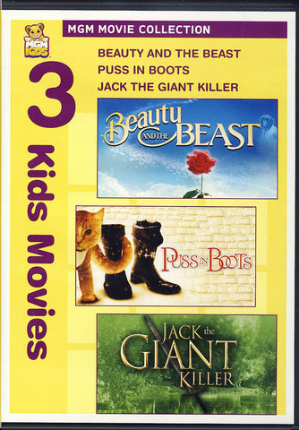 Beauty and the Beast / Puss in Boots / Jack the Giant Killer DVD Movie