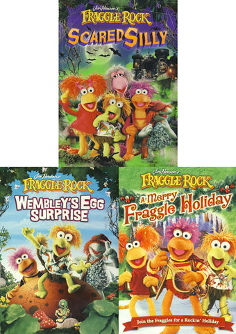 Fraggle Rock - (scared silly / Wembley's Egg Surprise / A Merry Fraggle Holiday) (3 Pack) DVD Movie