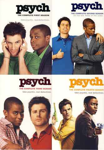 Psych - Complete Season 1, 2, 3, 4 (Pack)(Boxset) DVD Movie