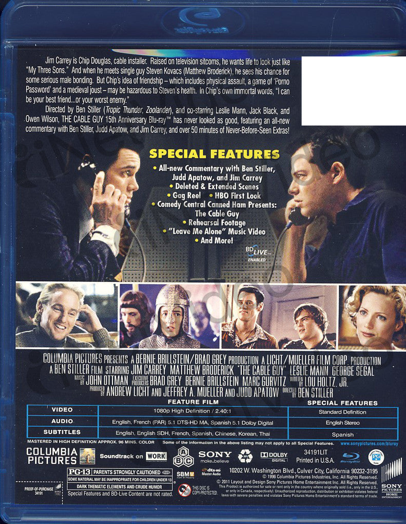 The Cable Guy 15th Anniversary Edition Blu Ray On Blu