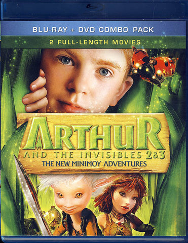 Arthur and The Invisibles 2 & 3 (Blu-ray+DVD Combo)(Blu-ray) BLU-RAY Movie
