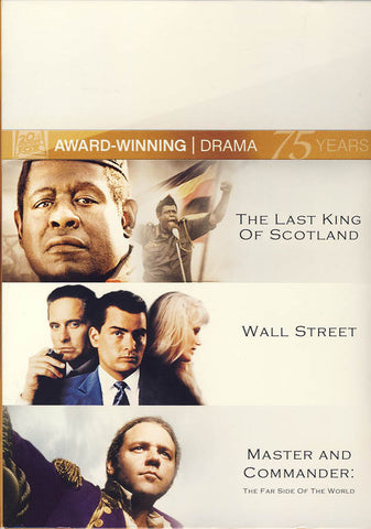 The Last King of Scotland/Wall Street/Master and Commander (Boxset) DVD Movie