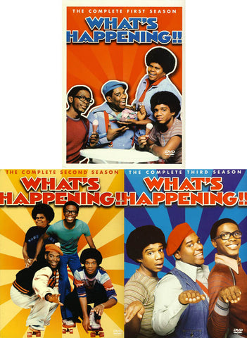 What s Happening!! - The Complete season 1,2 and 3 (3 Pack) DVD Movie