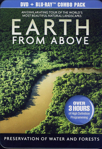 Earth From Above - Preservation of Water and Forests (DVD/Blu-ray)(Collectible Tin)(Blu-ray) BLU-RAY Movie