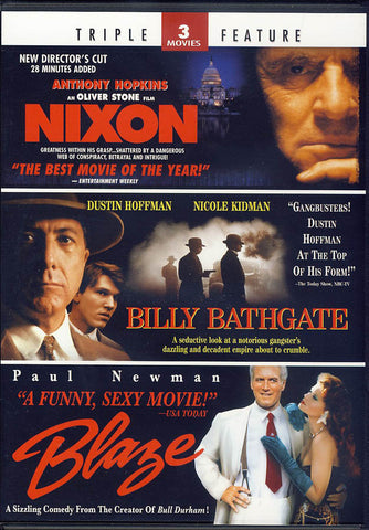 Nixon / Billy Bathgate / Blaze (Triple Feature) (Limit 1 copy) DVD Movie