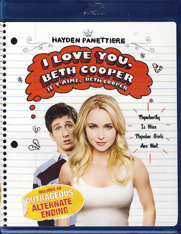 I Love You Beth Cooper (Blu-ray) (Bilingual) BLU-RAY Movie