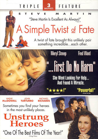 Simple Twist of Fate / First Do No Harm / Unstrung Heroes (Triple Feature) DVD Movie