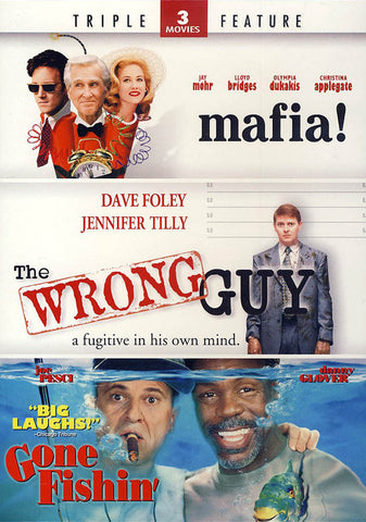 Mafia! / The Wrong Guy / Gone Fishin (Triple Feature) DVD Movie