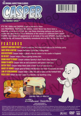 Casper the Friendly Ghost: Peek A Boo DVD Movie