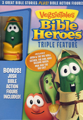 VeggieTales: Bible Heroes Triple Feature (Bonus:Josh Bible Action Figure)(Boxset) DVD Movie