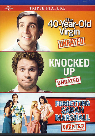 The 40-Year Old Virgin /Knocked Up / Forgetting Sarah Marshall Triple Feature DVD Movie
