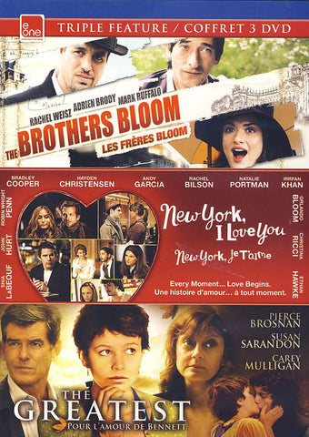 The Brothers Bloom/New York, I Love You/The Greatest Triple Fature (Bilingual) DVD Movie