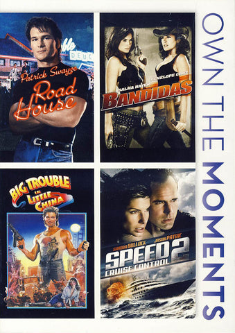Road House/ Bandidas/ Big Trouble in Little China/ Speed 2 Cruise Control DVD Movie