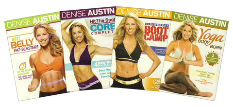 Denise Austin - (Boot Camp ,Yoga Body Burn,Hit the Spot - Core Complete,Best Belly Fat-Blasters) (Bo DVD Movie