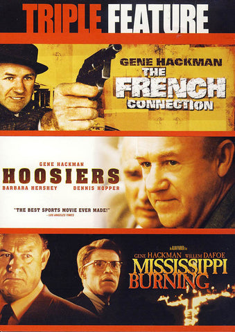 The French Connection / Hoosiers / Mississippi Burning (Triple Feature) DVD Movie