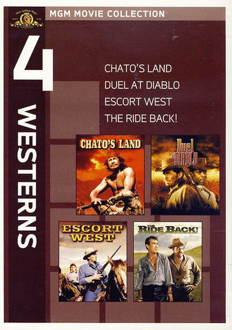 MGM 4 Westerns - Chato s Land / Duel at Diablo / Escort West / The Ride Back DVD Movie