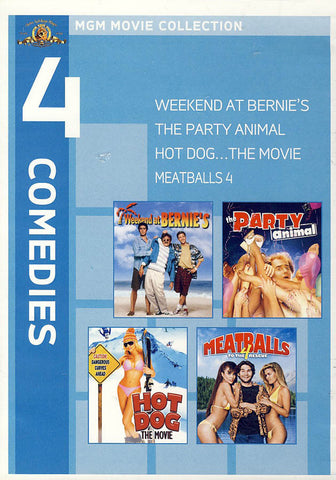 MGM 4 Comedies - Weekend at Bernie's / Party Animal / Hot Dog: The Movie / Meatballs 4 DVD Movie