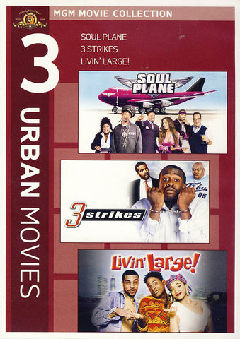 MGM 3 Urban Movies - Soul Plane / 3 Strikes / Livin Large DVD Movie