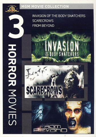 MGM 3 Horror Movies - Invasion of the Body Snatchers / Scarecrow / From Beyond DVD Movie