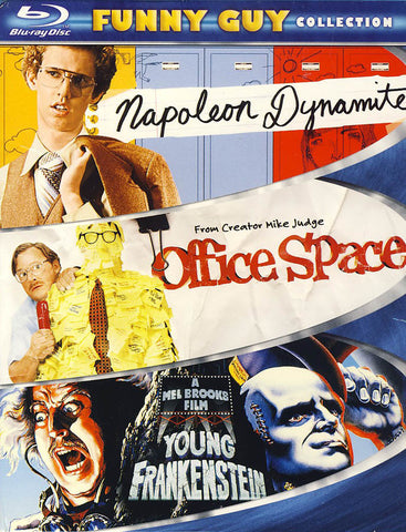 Napoleon Dynamite / Office Space / Young Frankenstein - Funny Guy Collection (Boxset) (Blu-ray) BLU-RAY Movie