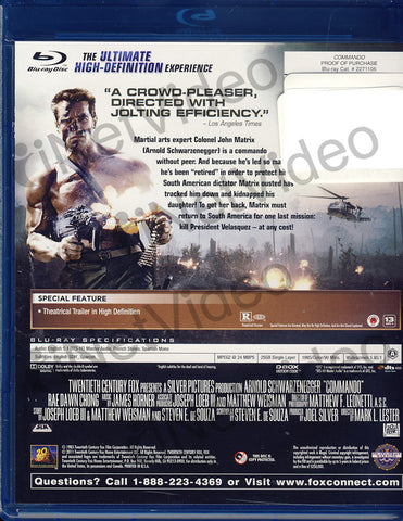 Commando (Blu-ray) BLU-RAY Movie