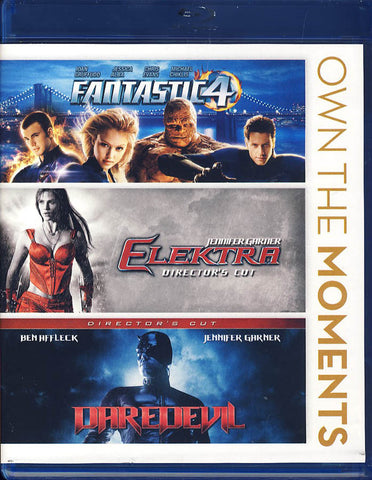 Fantastic Four/Elektra/Daredevil (Triple Feature)(Blu-ray) BLU-RAY Movie