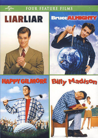 Liar Liar/Bruce Almighty/Happy Gilmore/Billy Madison DVD Movie