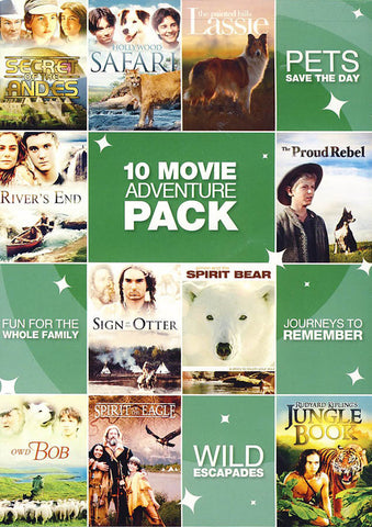 10 Movie Adventure Pack (Value Movie Collection) DVD Movie