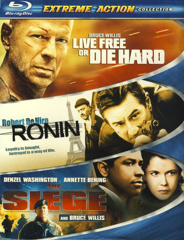 Live Free or Die Hard / Ronin / The Siege (Extreme Action) (Boxset) (Blu-ray) BLU-RAY Movie