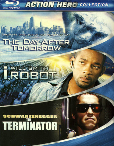 The Day After Tomorrow / I, Robot / The Terminator (Action Hero Collection) (Boxset) (Blu-ray) BLU-RAY Movie