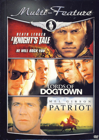 A Knight s Tale/Lords of Dogtown/Patriot (Triple Feature) DVD Movie