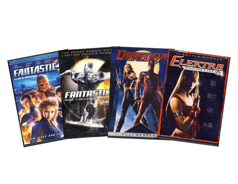 Marvel Super Hero Movie 4-Pack (Boxset) DVD Movie