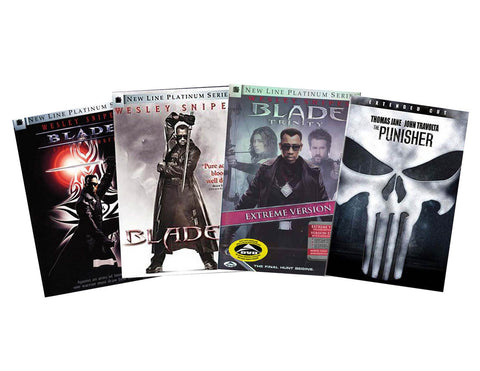 Blade Movie Pack (Included Punisher) (4 Pack) (Boxset) DVD Movie