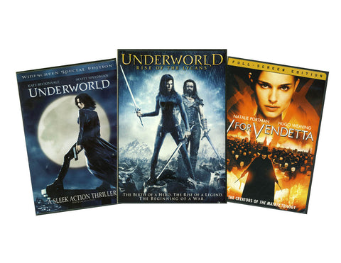 Underworld / Underworld (Rise of the Lycans / V for Vendetta (3 Pack) (Boxset) DVD Movie
