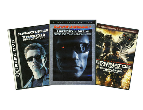 Terminator Salvation / Terminator 2 - T2 Judgment Day / Terminator 3 (3 Pack) (Boxset) DVD Movie