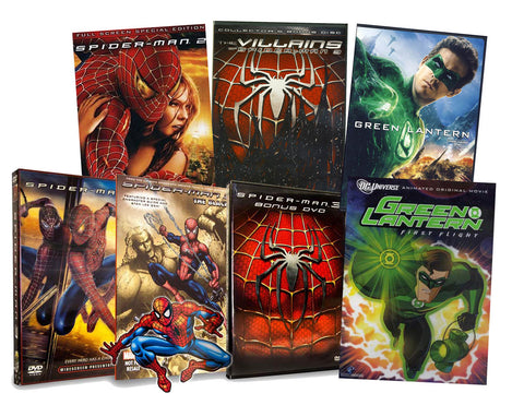 Spiderman / Green Lantern Super Heroes Pack(5 Pack) (Boxset) DVD Movie