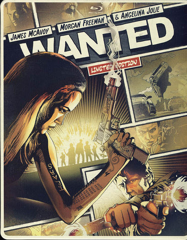 Wanted (Steelbook) (Blu-ray + DVD + DIGITAL with UltraViolet) (Blu-ray) BLU-RAY Movie