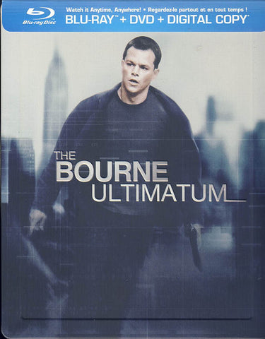The Bourne Ultimatum - Ltd. Edition Steelbook (Blu-ray+DVD)(Blu-ray) BLU-RAY Movie
