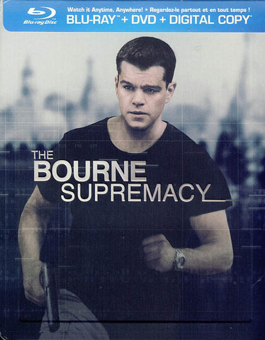 The Bourne Supremacy - Ltd. Edition Steelbook (Blu-ray+DVD)(Blu-ray) BLU-RAY Movie