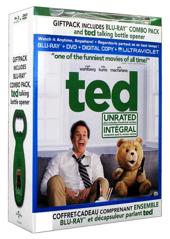 Ted (Blu-ray+DVD)(With Talking Bottle Opener)(Blu-ray)(Boxset)(Value Gift Set) BLU-RAY Movie