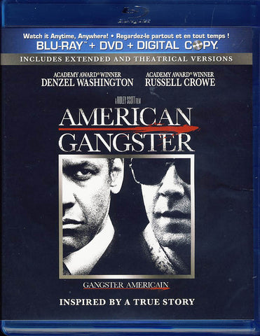 American Gangster (Blu-ray+DVD)(Bilingual)(Blu-ray) BLU-RAY Movie